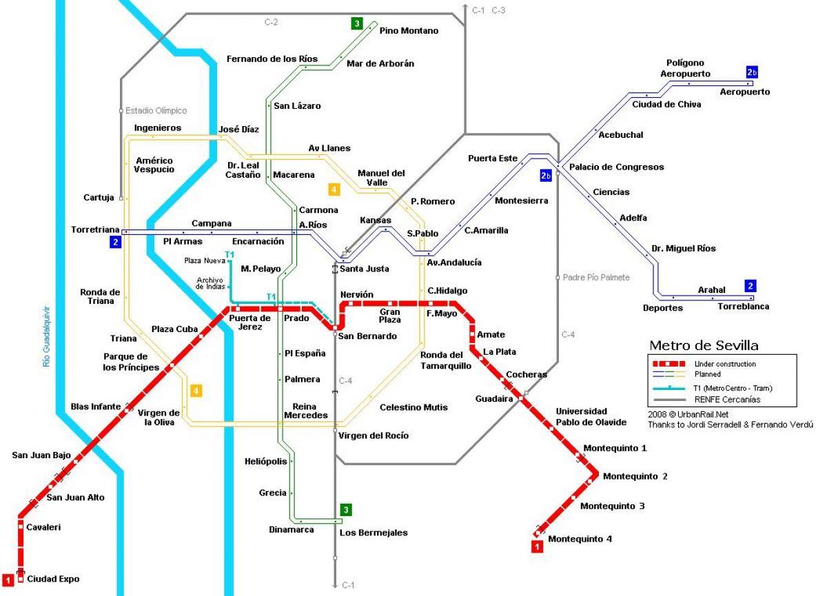 metro sevilla mappa mappa della metropolitana di. Black Bedroom Furniture Sets. Home Design Ideas