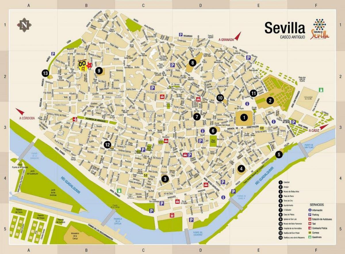 Cartina Siviglia Spagna.Parcheggio Gratuito In Strada Mappa Di Siviglia Spagna Mappa Della Strada Mappa Di Siviglia In Spagna Andalusia Spagna