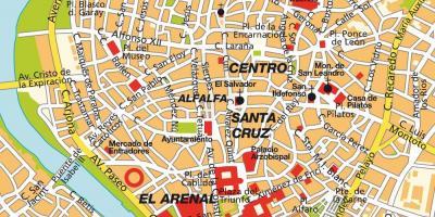 Cartina Siviglia Spagna.Siviglia Mappa Mappe Di Siviglia Andalusia Spagna