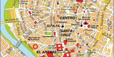 Siviglia Cartina.Siviglia Mappa Mappe Di Siviglia Andalusia Spagna
