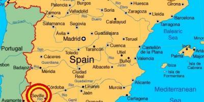 Cartina Della Spagna Geografica.Siviglia Mappa Mappe Di Siviglia Andalusia Spagna